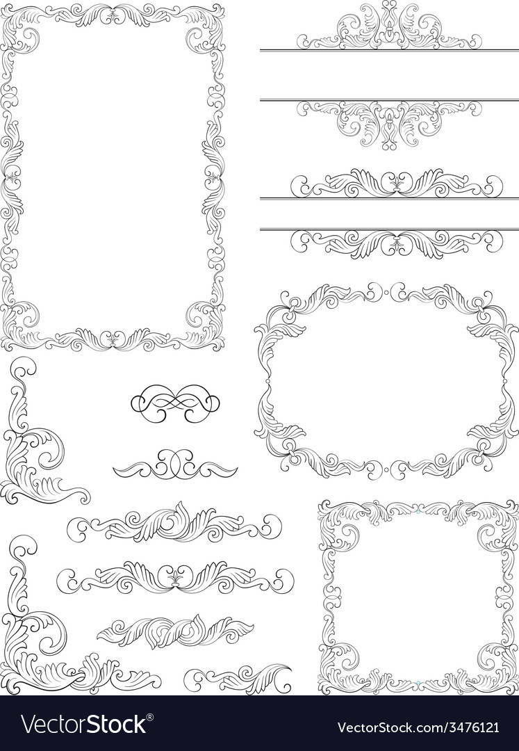 Borders and frames vector | Price: 1 Credit (USD $1)