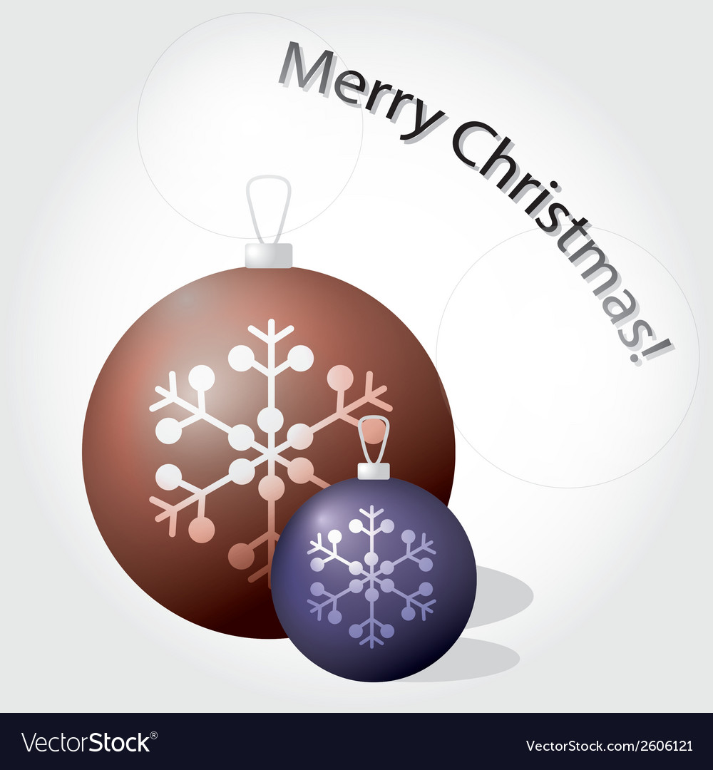 Christmas baubles color eps10 vector | Price: 1 Credit (USD $1)