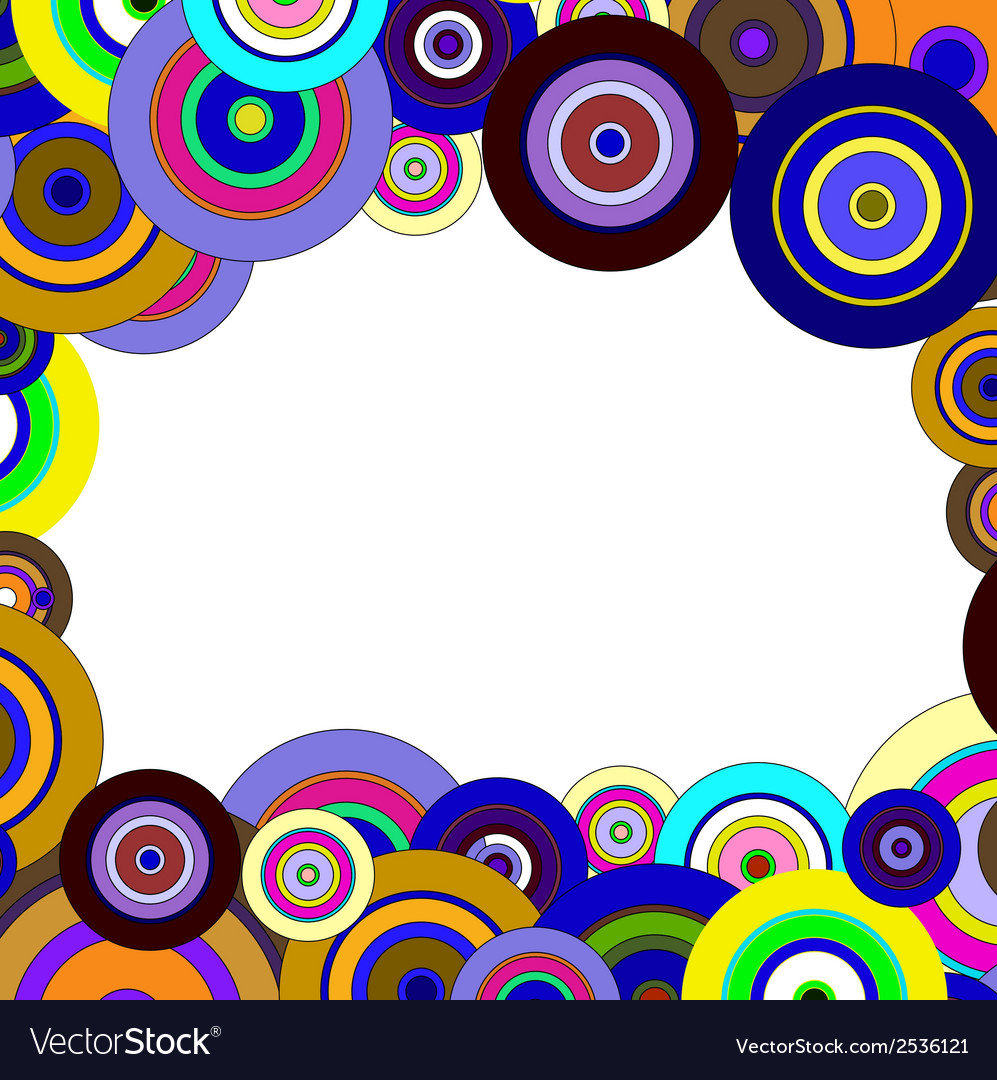 Circles colorful pattern vector | Price: 1 Credit (USD $1)