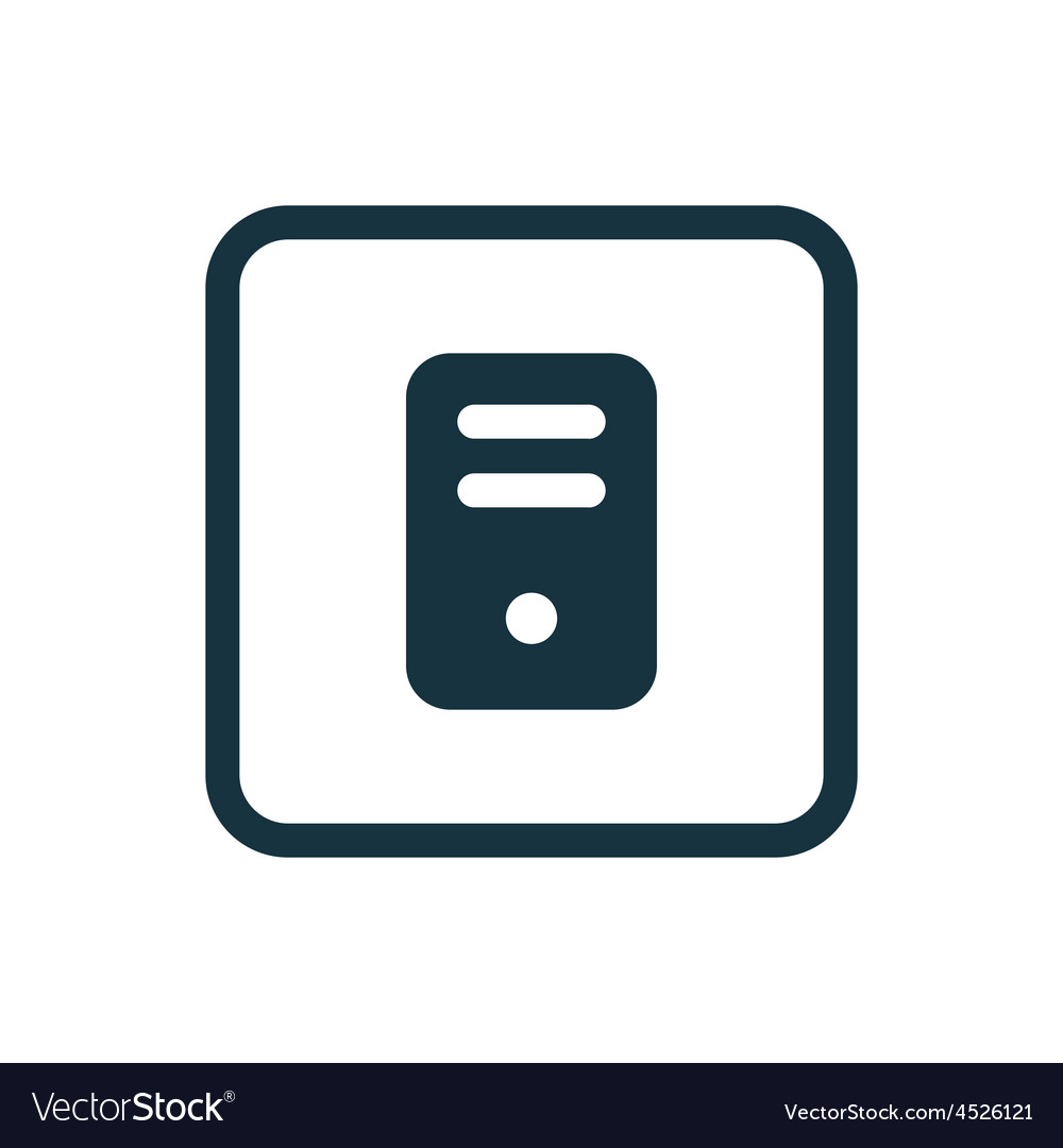 Computer icon rounded squares button vector | Price: 1 Credit (USD $1)