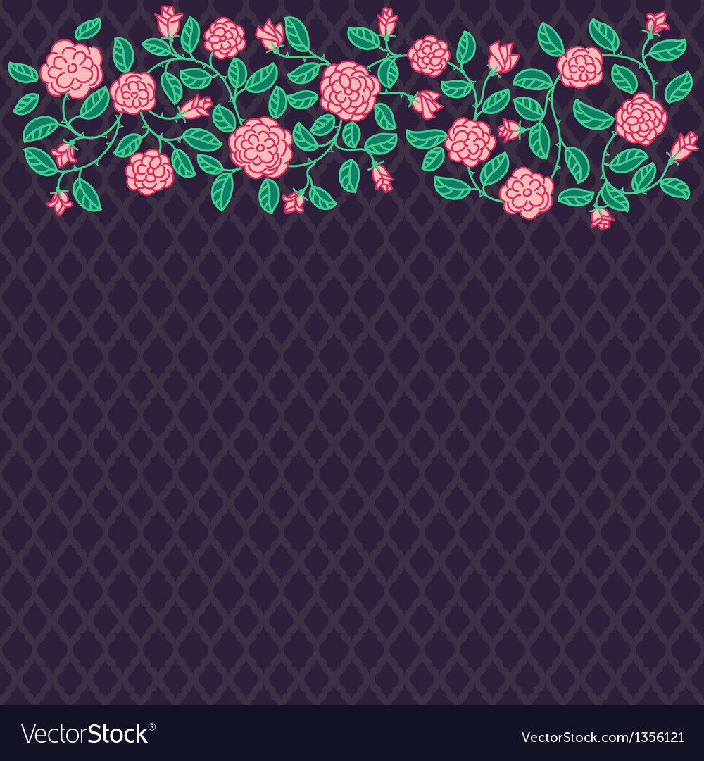 Doodle rose border vector   Price: 1 Credit (USD $1)