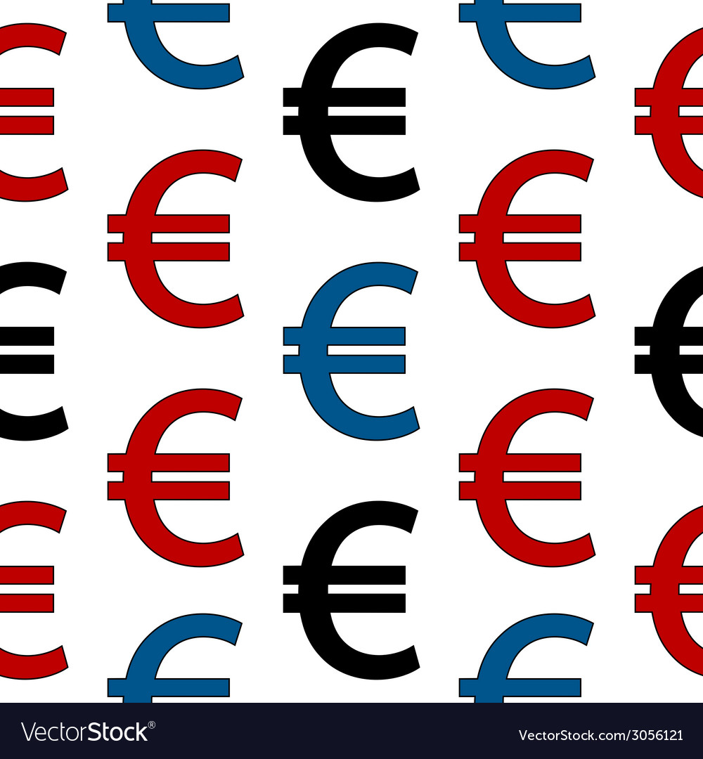 Euro symbol seamless pattern vector | Price: 1 Credit (USD $1)