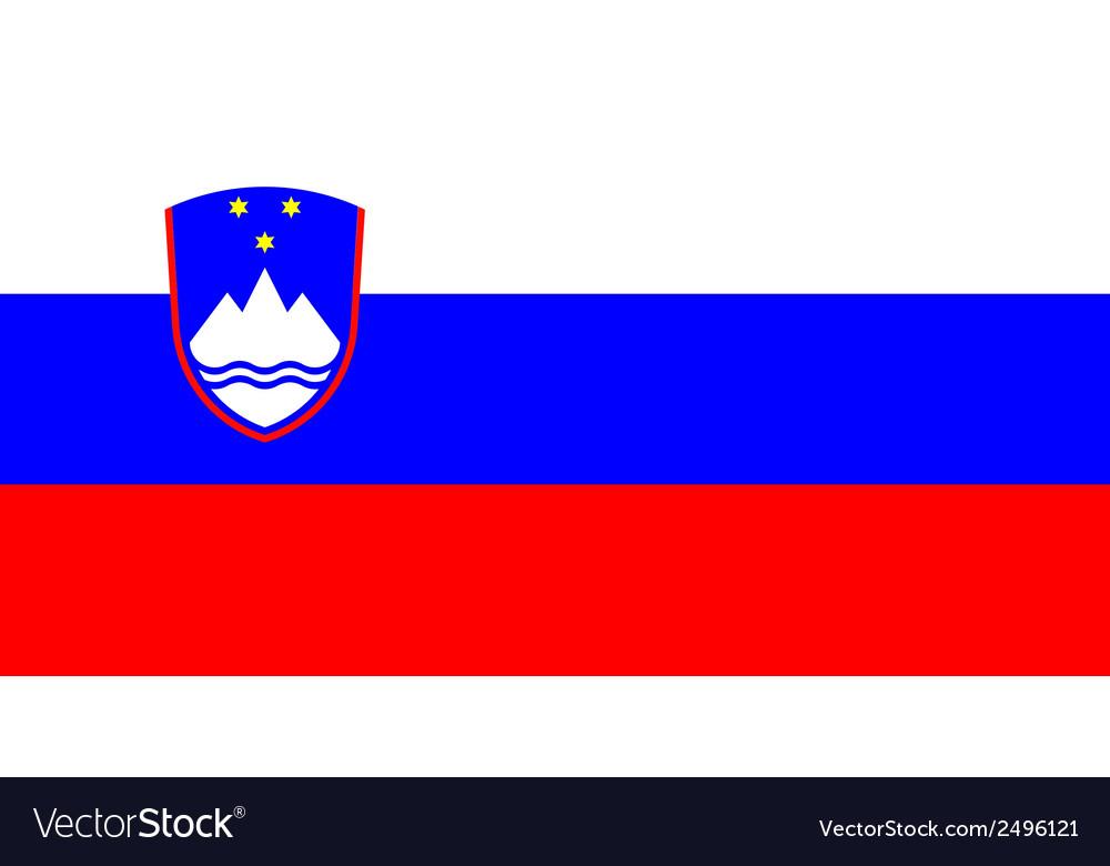 Flag of sloveniia vector | Price: 1 Credit (USD $1)