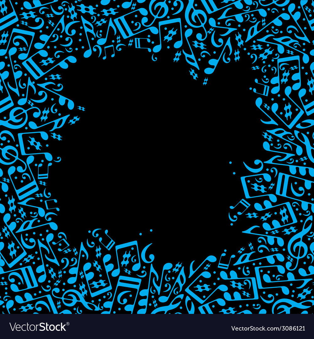 Frame made with musical notes vector | Price: 1 Credit (USD $1)