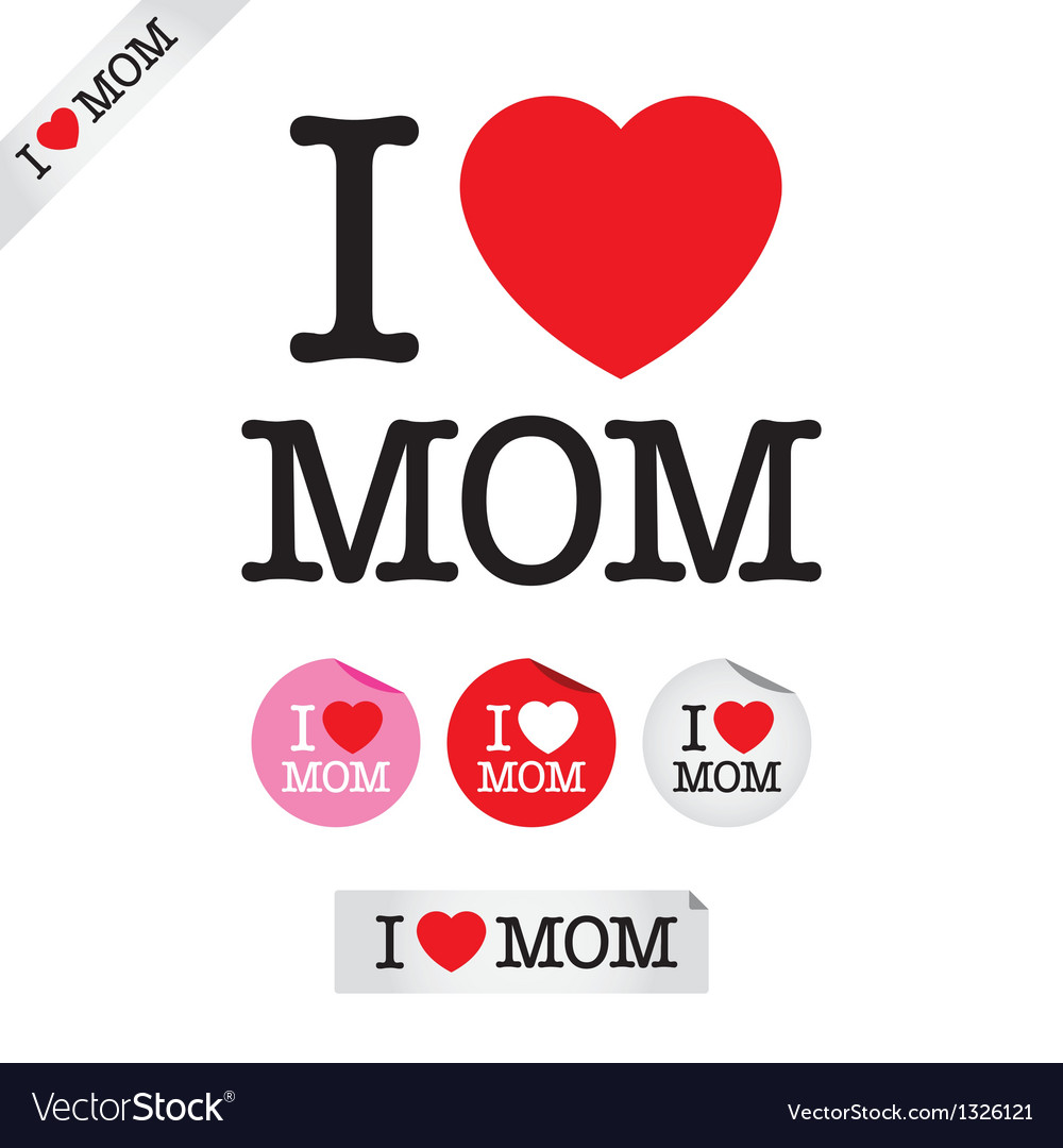 Happy mothers day i love mom vector | Price: 1 Credit (USD $1)
