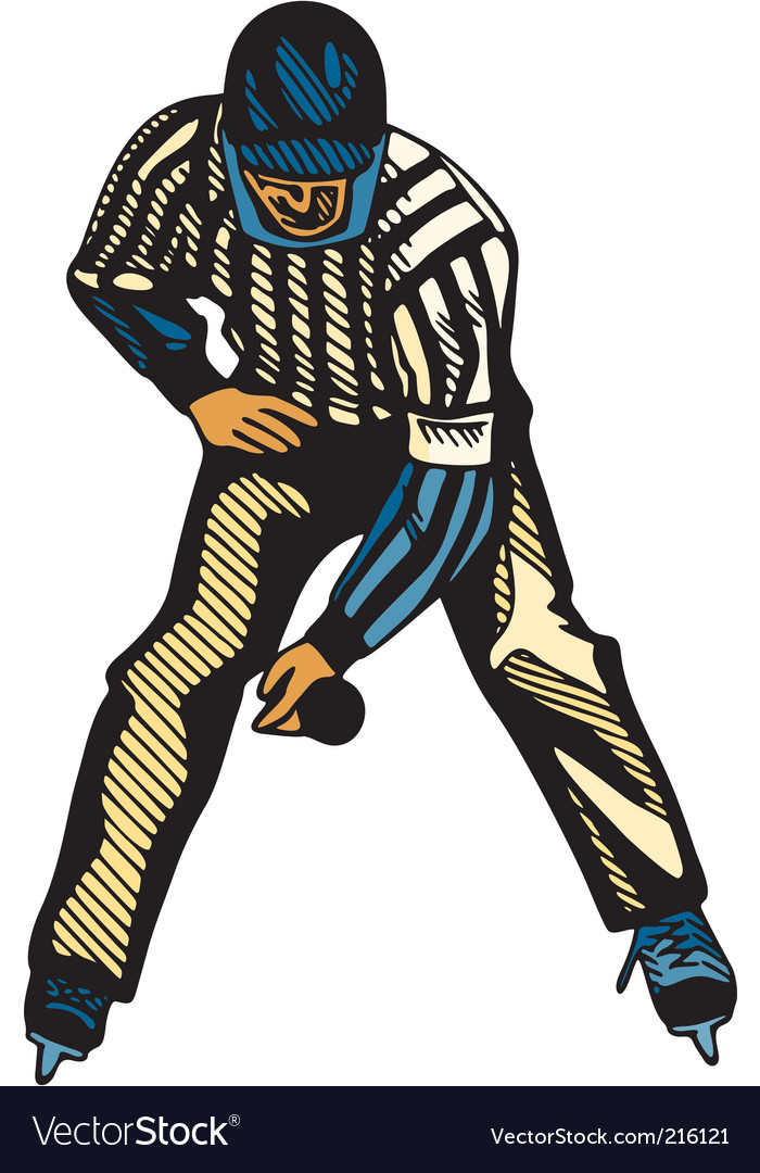 Hockey referee vector | Price: 1 Credit (USD $1)