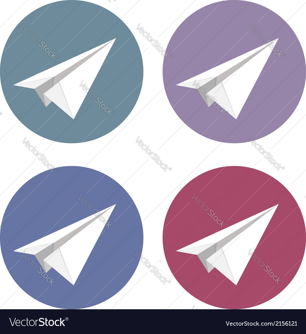 Isolated plane icons set vector | Price: 1 Credit (USD $1)