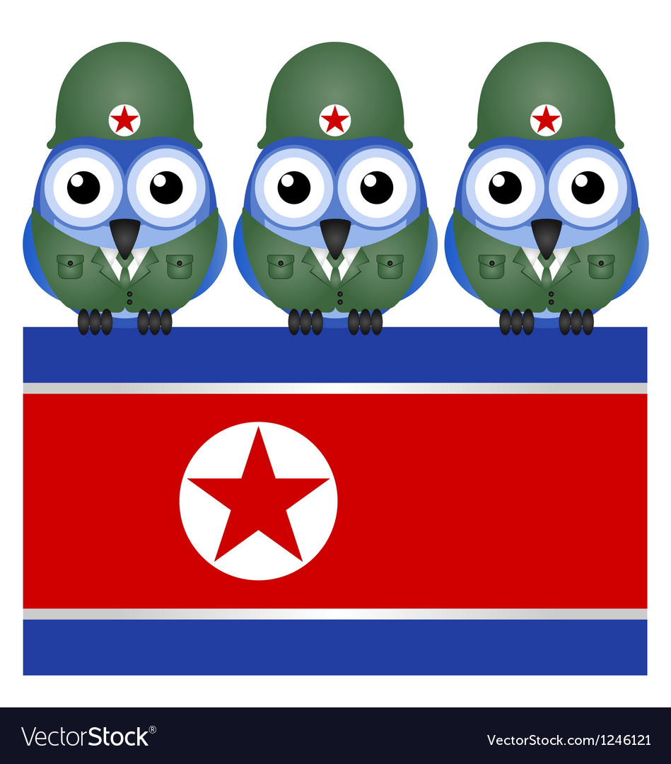 North korea flag army vector | Price: 1 Credit (USD $1)