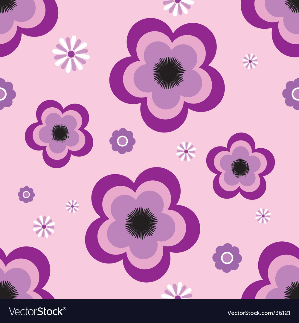 Pansy tile vector | Price: 1 Credit (USD $1)