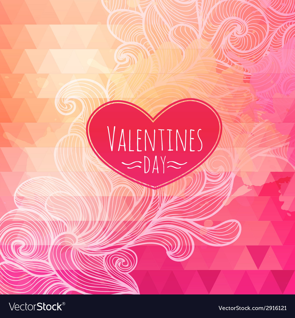 Valentine triangle background vector | Price: 1 Credit (USD $1)