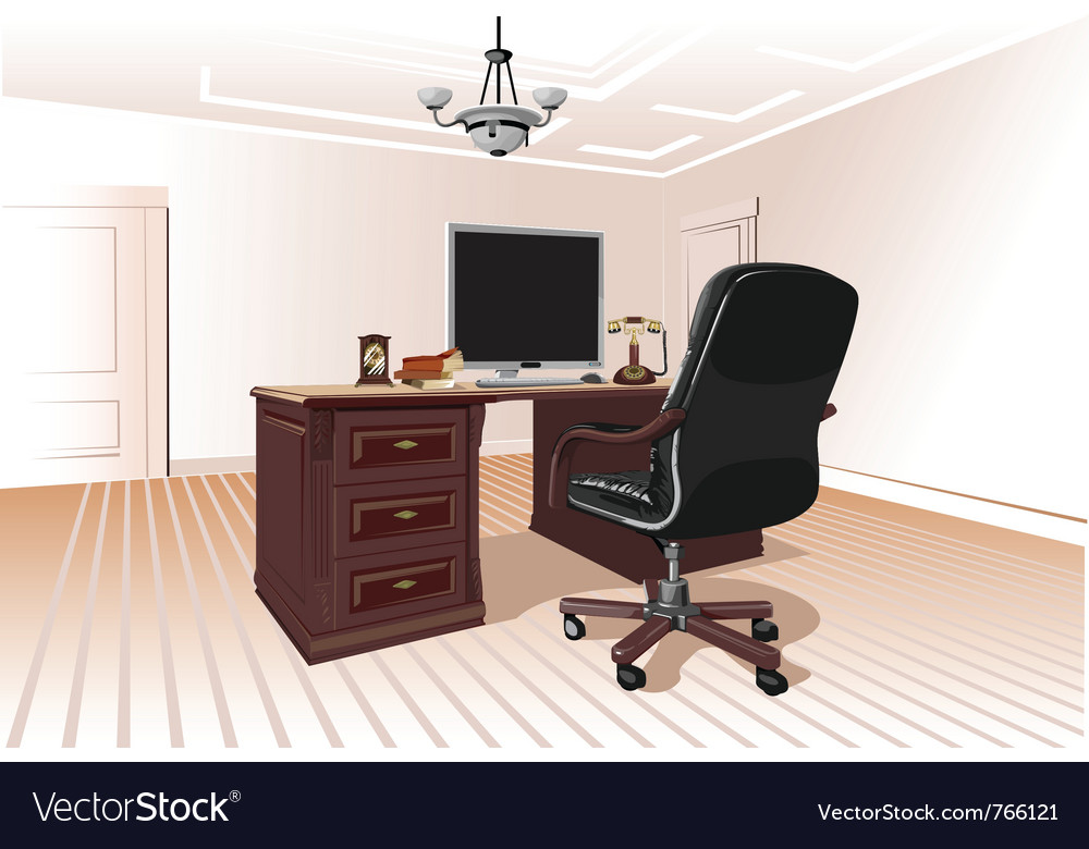 Workplace in room vector | Price: 3 Credit (USD $3)