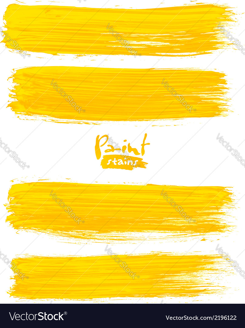 Bright yellow acrylic brush strokes vector | Price: 1 Credit (USD $1)