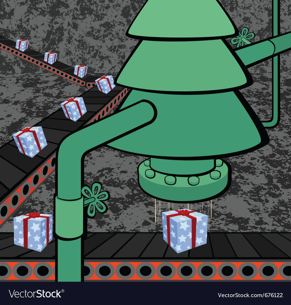 Christmas factory vector | Price: 1 Credit (USD $1)