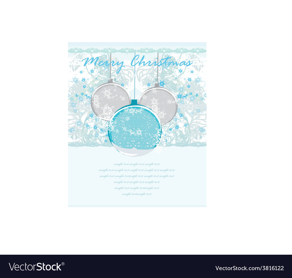 Christmas framework style with baubles card vector | Price: 1 Credit (USD $1)
