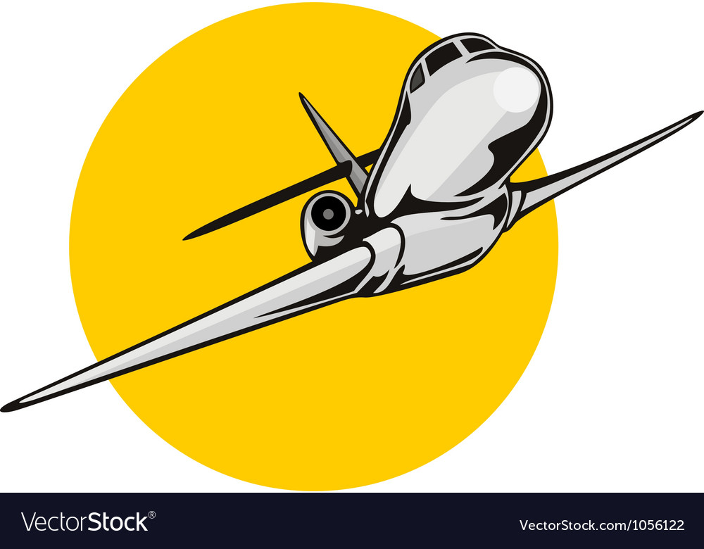 Commercial jet plane airliner vector | Price: 1 Credit (USD $1)