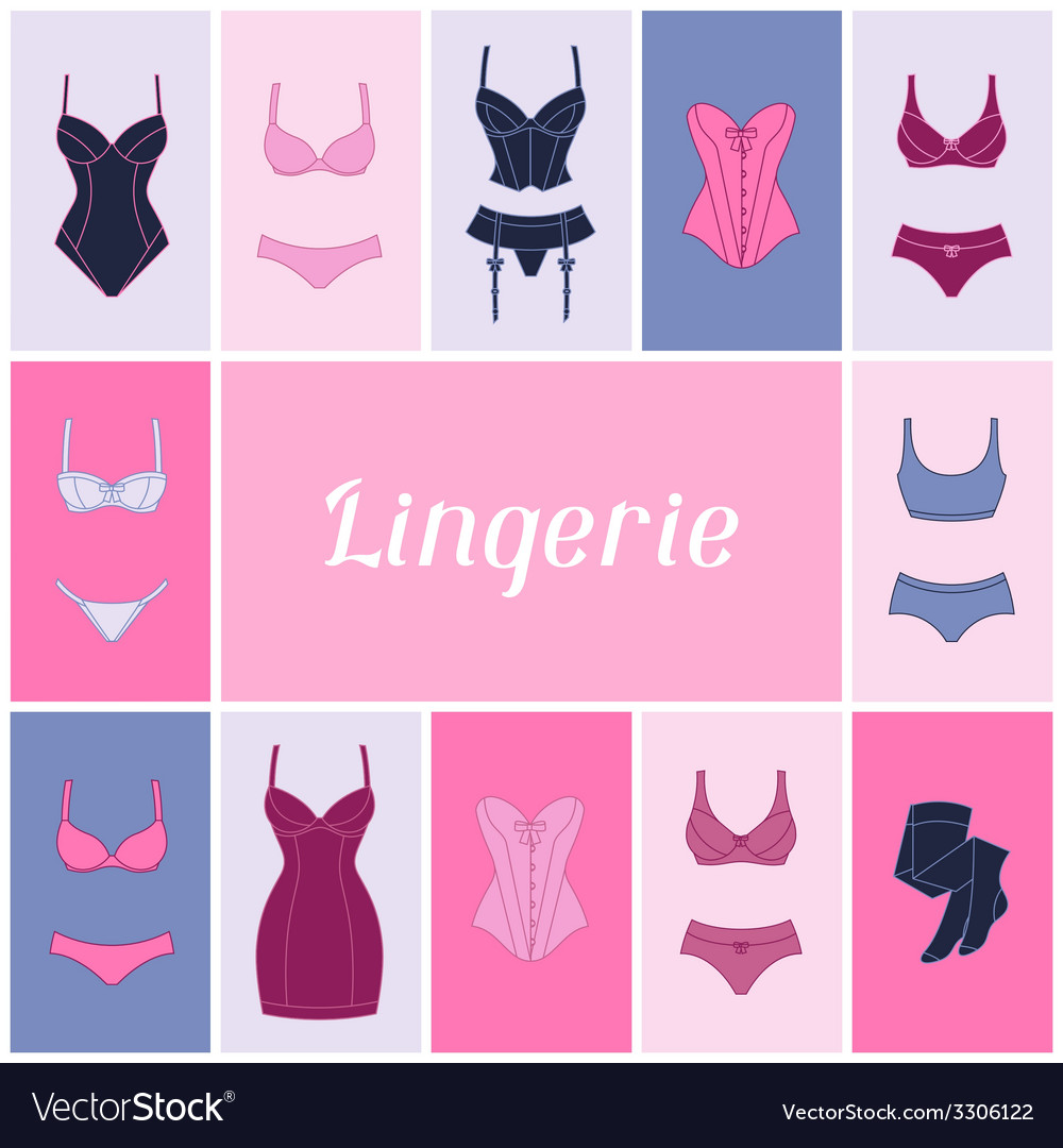 Fashion lingerie background design with female vector | Price: 1 Credit (USD $1)