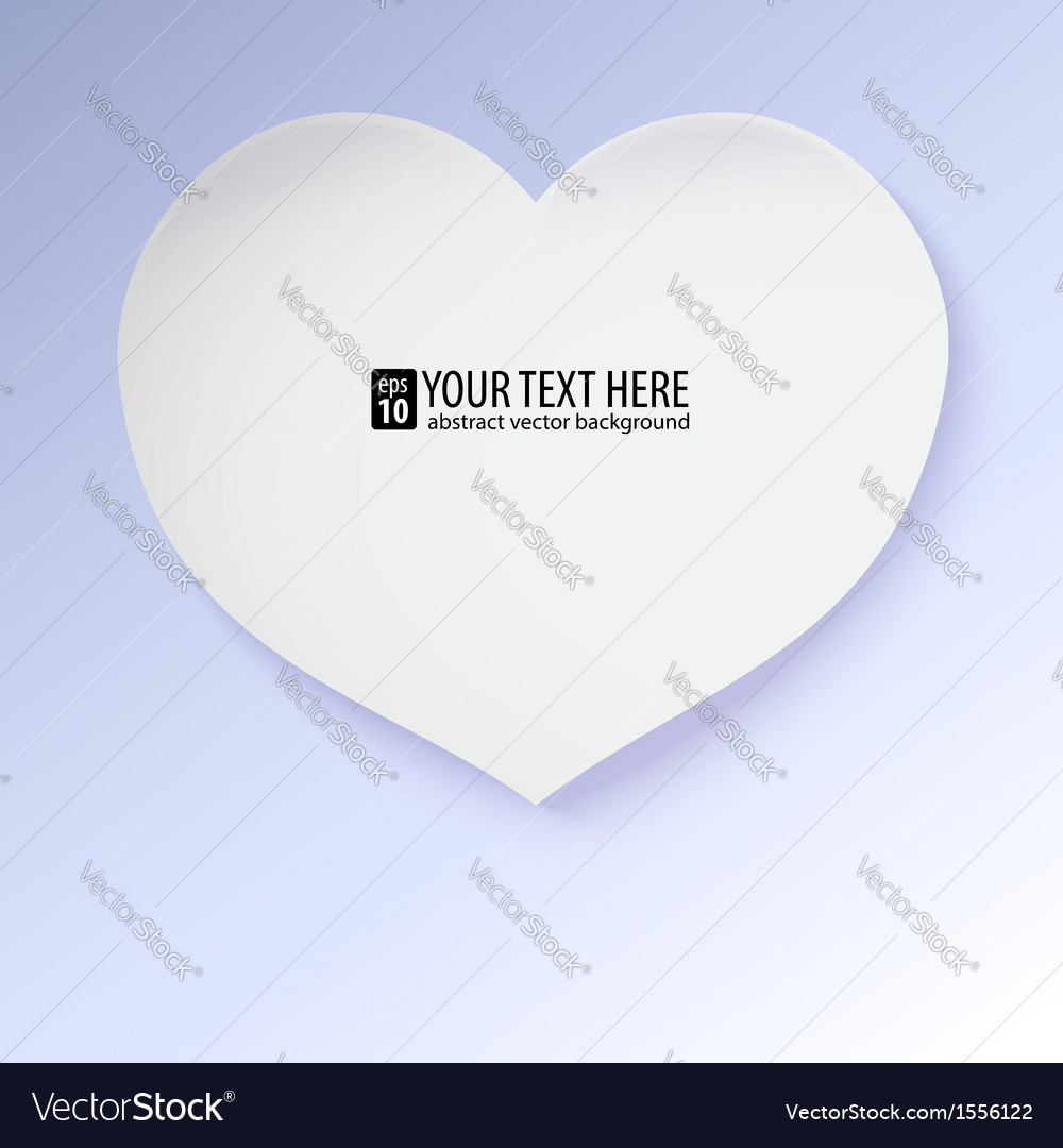 Greeting card with paper heart contains gradients vector