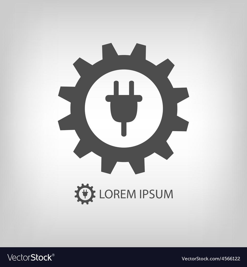 Grey energy industry logo vector | Price: 1 Credit (USD $1)