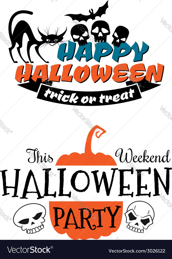 Halloween party banner and poster vector | Price: 1 Credit (USD $1)
