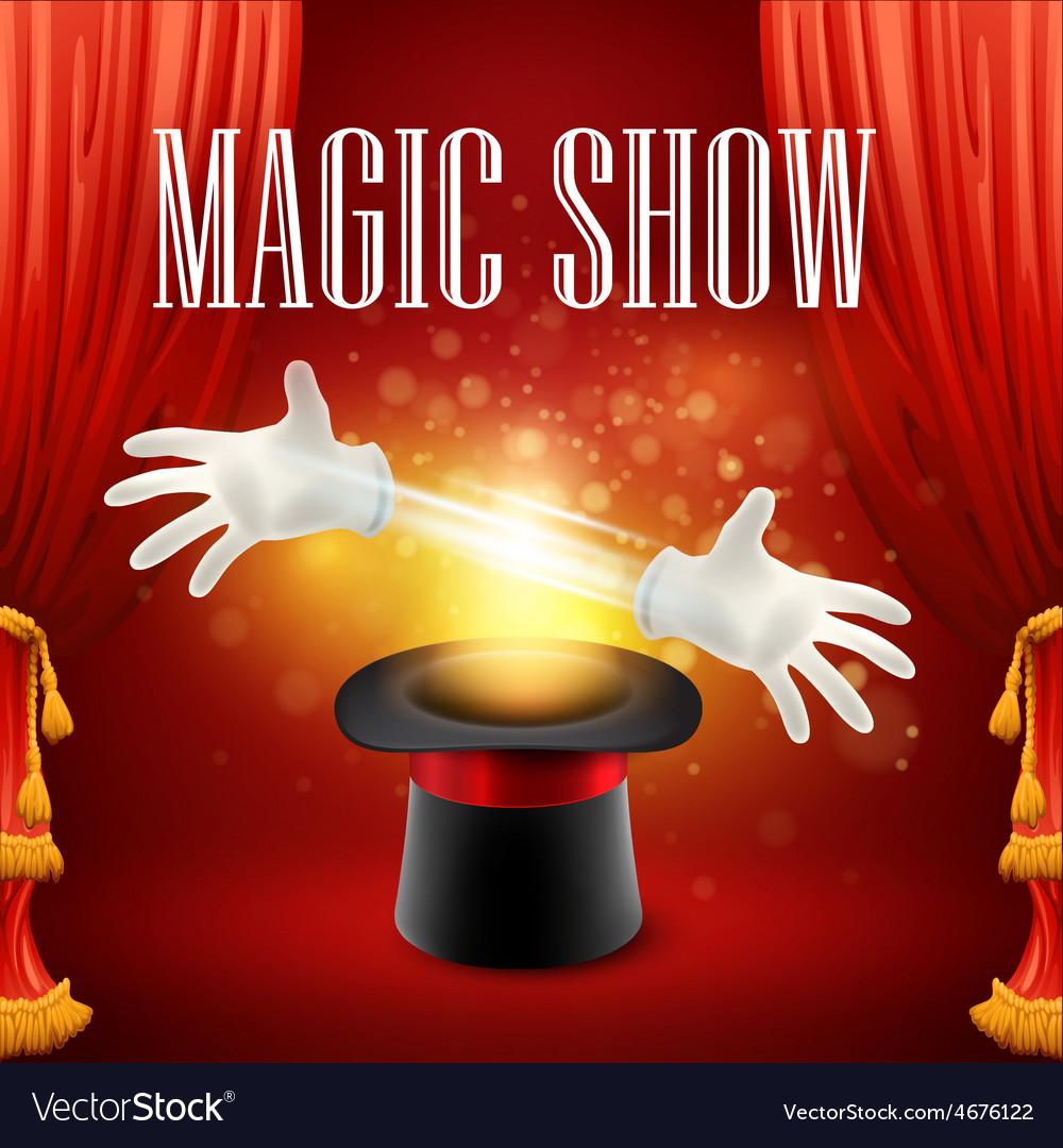 Magic trick performance circus show concept vector | Price: 5 Credit (USD $5)