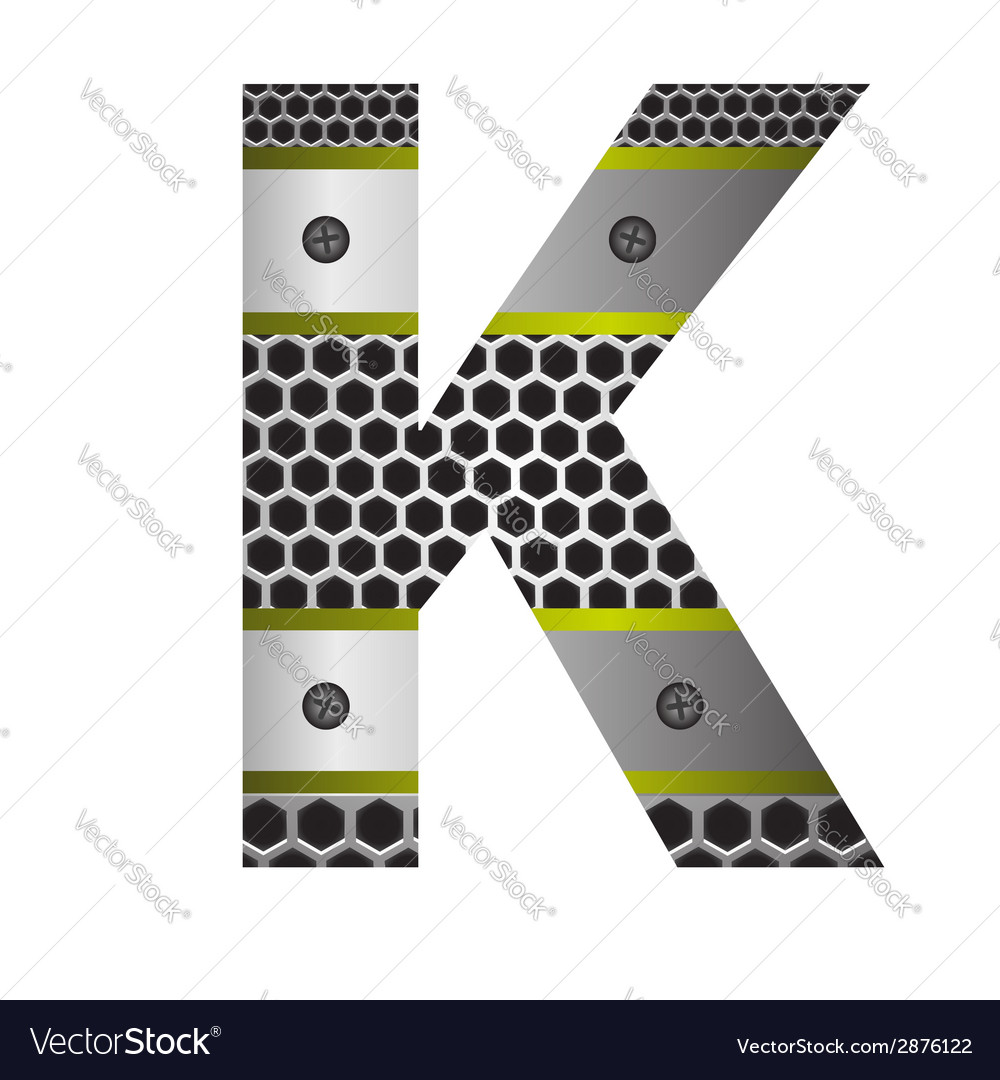 Perforated metal letter k vector | Price: 1 Credit (USD $1)