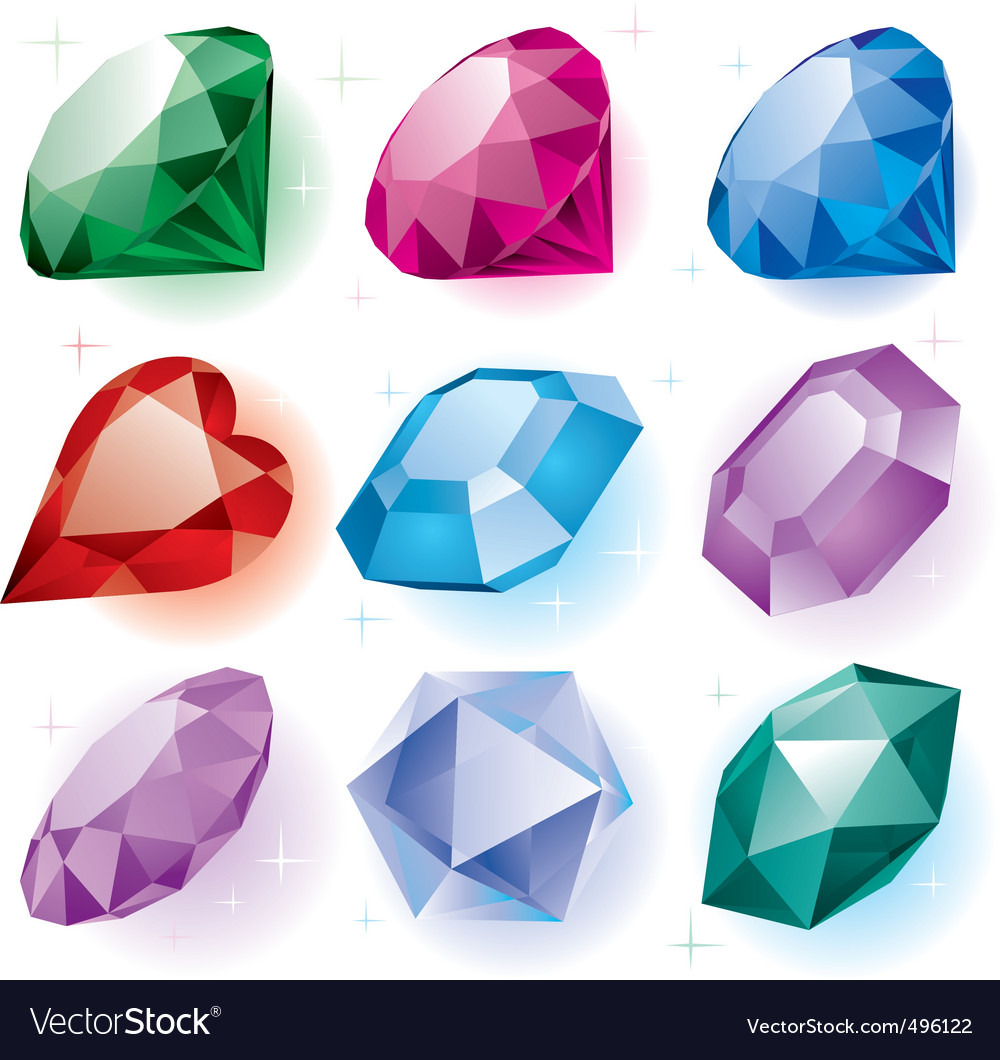 Set of diamonds vector | Price: 1 Credit (USD $1)