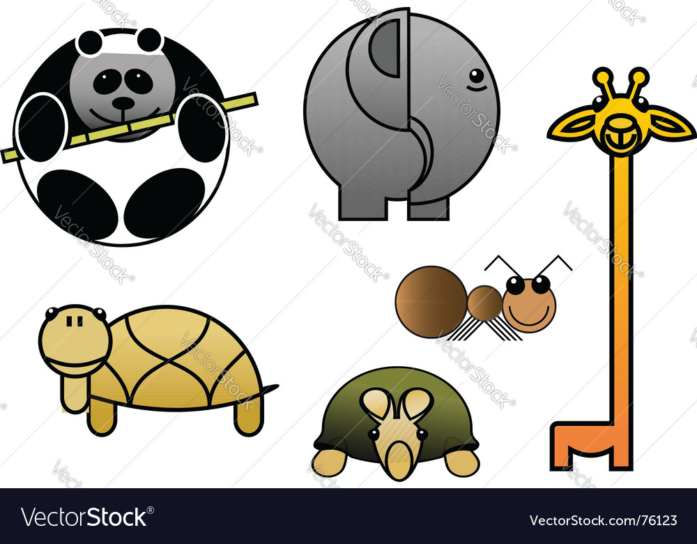 Animal babies vector | Price: 1 Credit (USD $1)