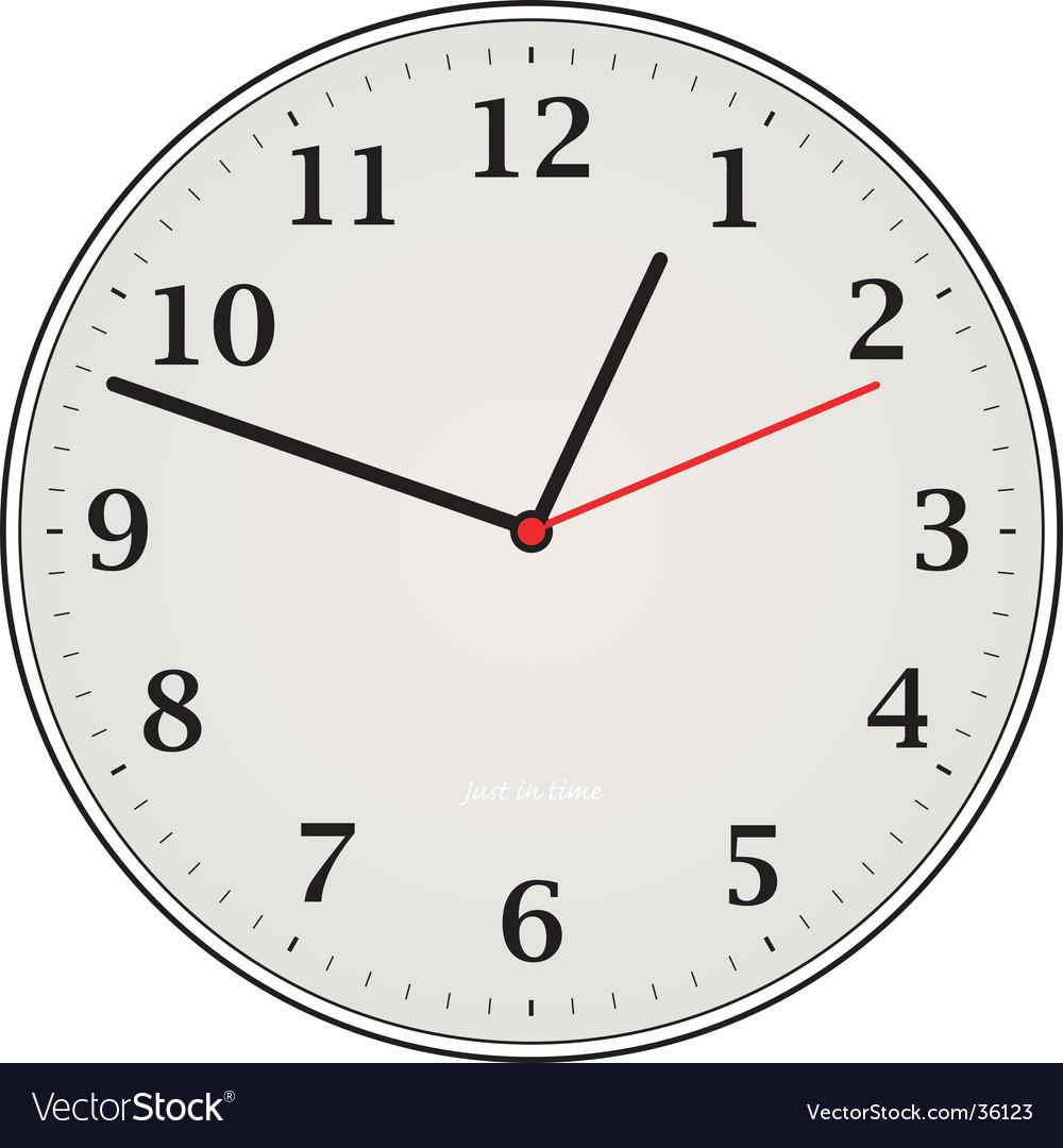 Clock grey vector | Price: 1 Credit (USD $1)