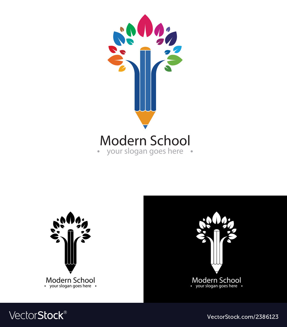 Colorfull school logo vector | Price: 1 Credit (USD $1)