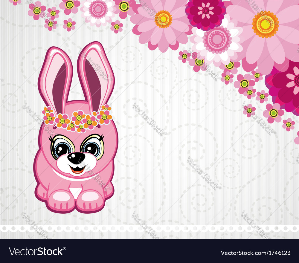 Easter greeting card the rabbit vector | Price: 1 Credit (USD $1)