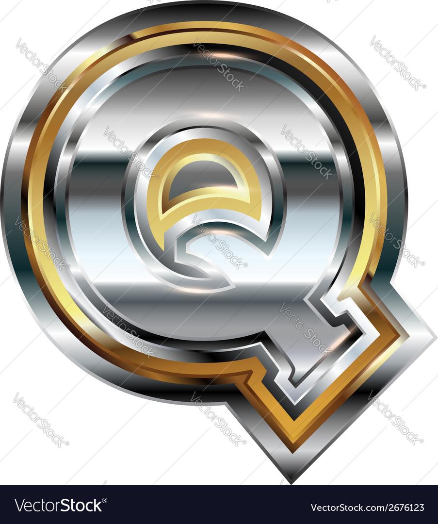 Fancy font letter q vector | Price: 1 Credit (USD $1)