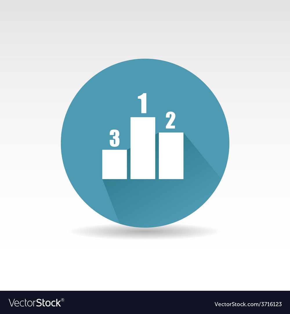 Flat diagram icon vector | Price: 1 Credit (USD $1)