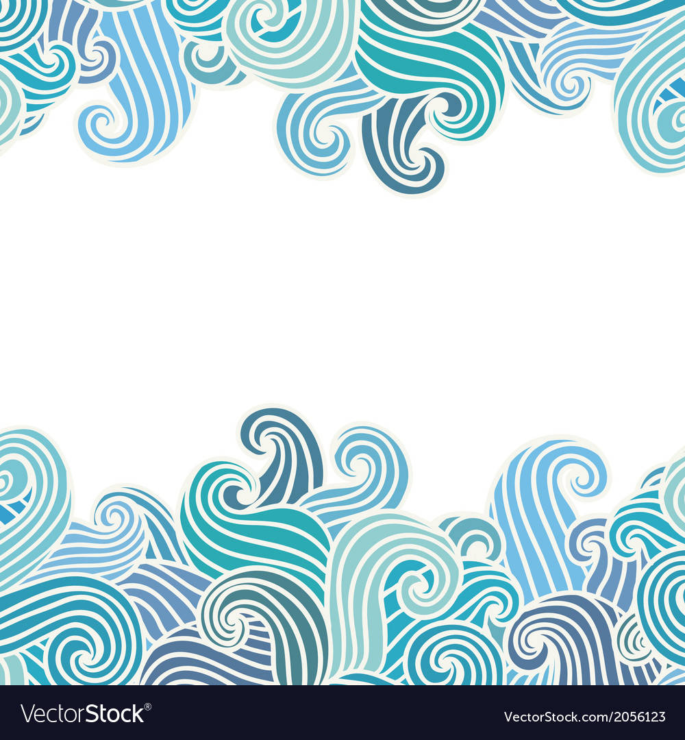 Hand drawn wavy background vector | Price: 1 Credit (USD $1)
