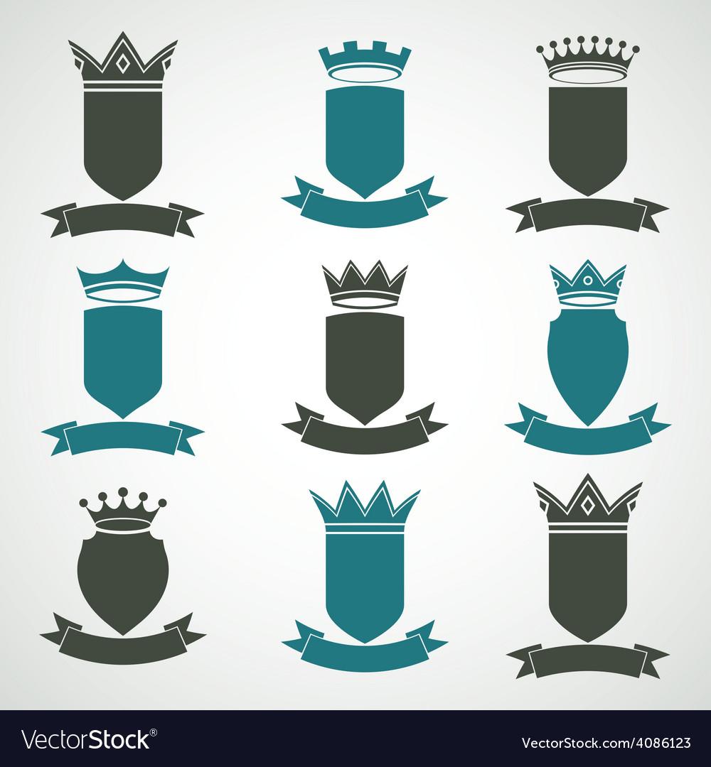 Heraldic royal blazon set - imperial striped decor vector | Price: 1 Credit (USD $1)