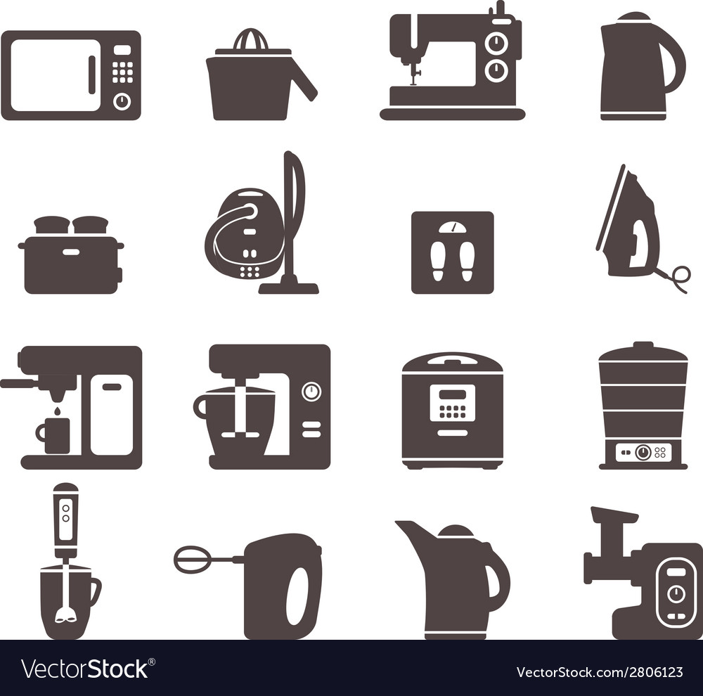 Icons with kitchen utensils vector | Price: 1 Credit (USD $1)