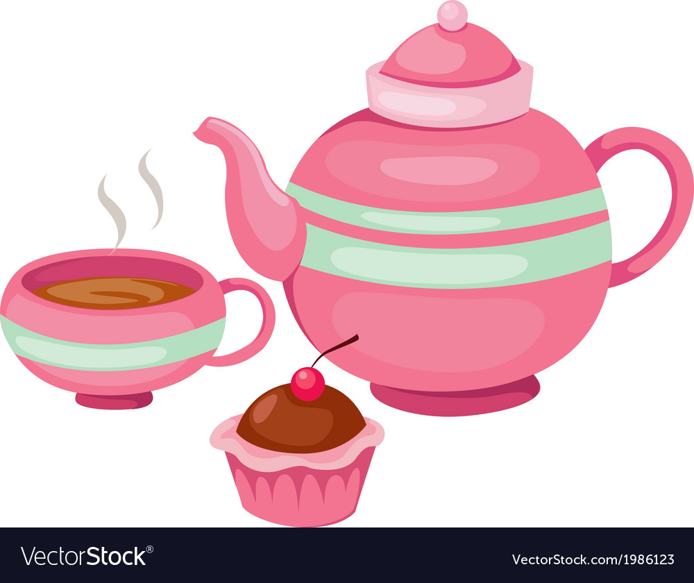 Isolated tea pot set vector | Price: 1 Credit (USD $1)