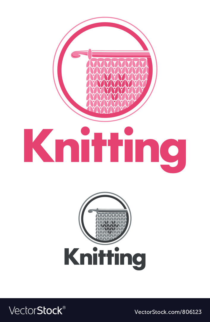 Knitting logo vector | Price: 1 Credit (USD $1)