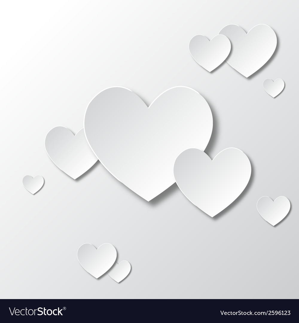 Paper white hearts vector | Price: 1 Credit (USD $1)