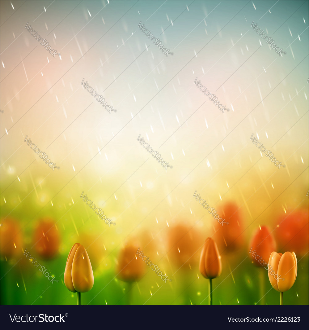 Summer rain vector | Price: 1 Credit (USD $1)