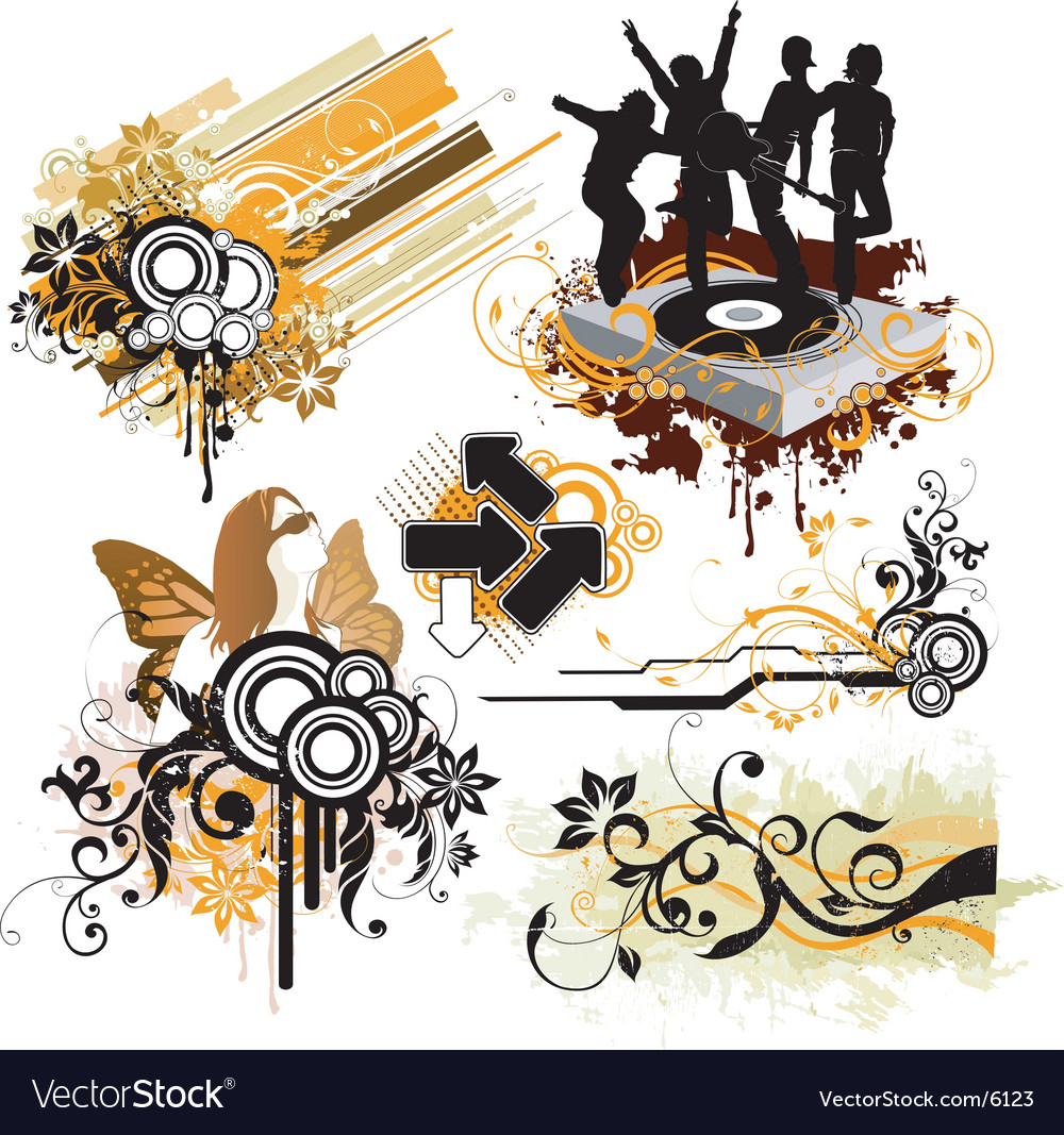 Urban funk design elements vector | Price: 5 Credit (USD $5)