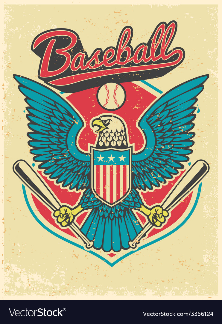 American eagle grip a baseball bat vector | Price: 3 Credit (USD $3)