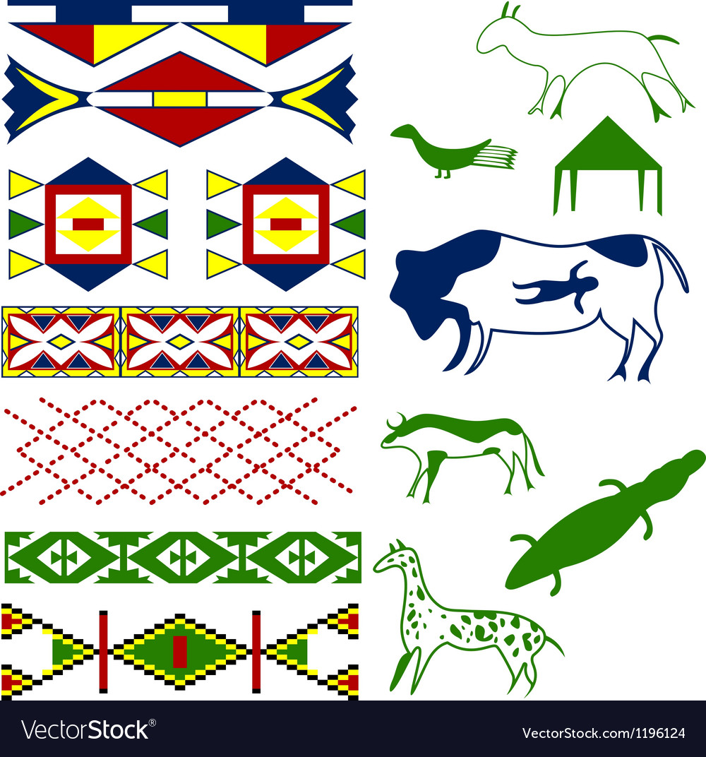 Ancient american pattern vector | Price: 1 Credit (USD $1)