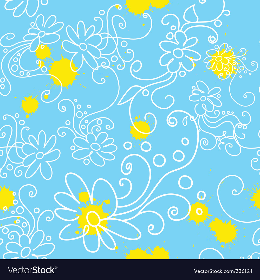 Chamomile seamless vector | Price: 1 Credit (USD $1)