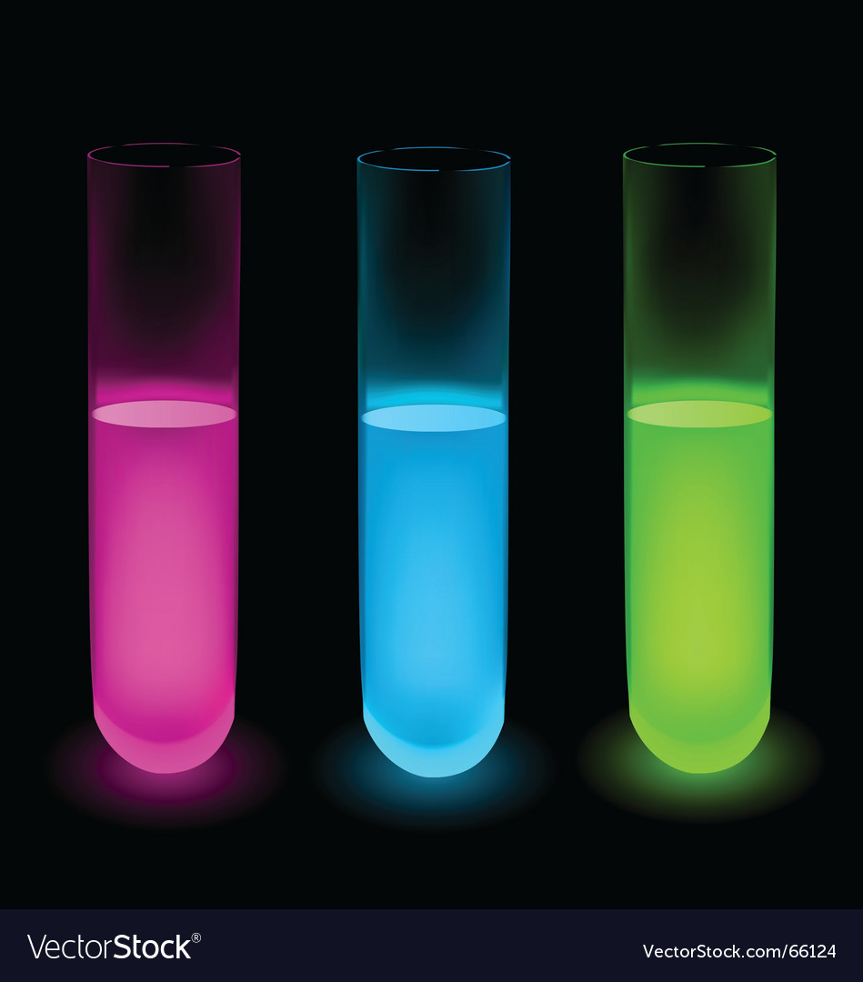 Colorful fluid test tubes vector | Price: 1 Credit (USD $1)