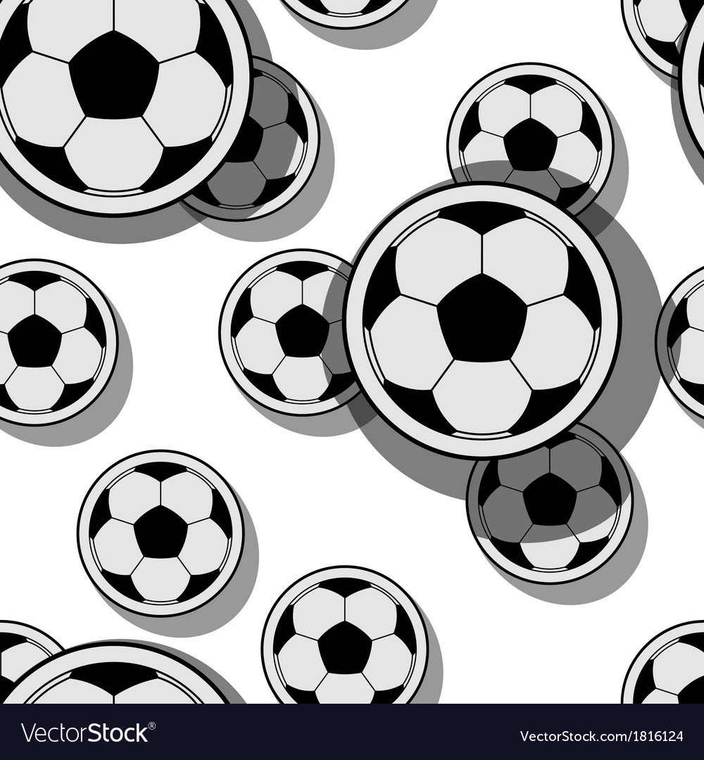 Football balls vector | Price: 1 Credit (USD $1)