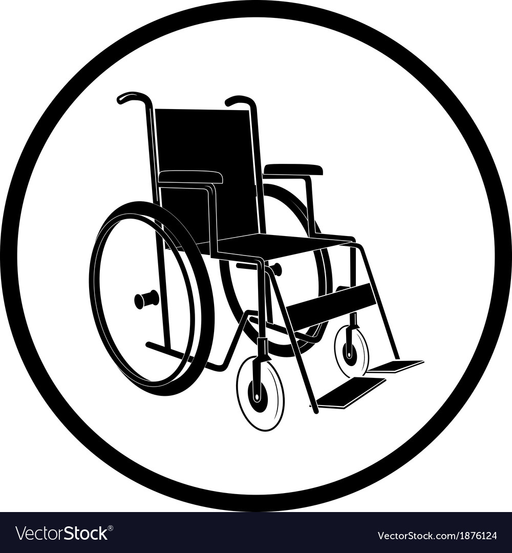 Invalid chair icon vector | Price: 1 Credit (USD $1)