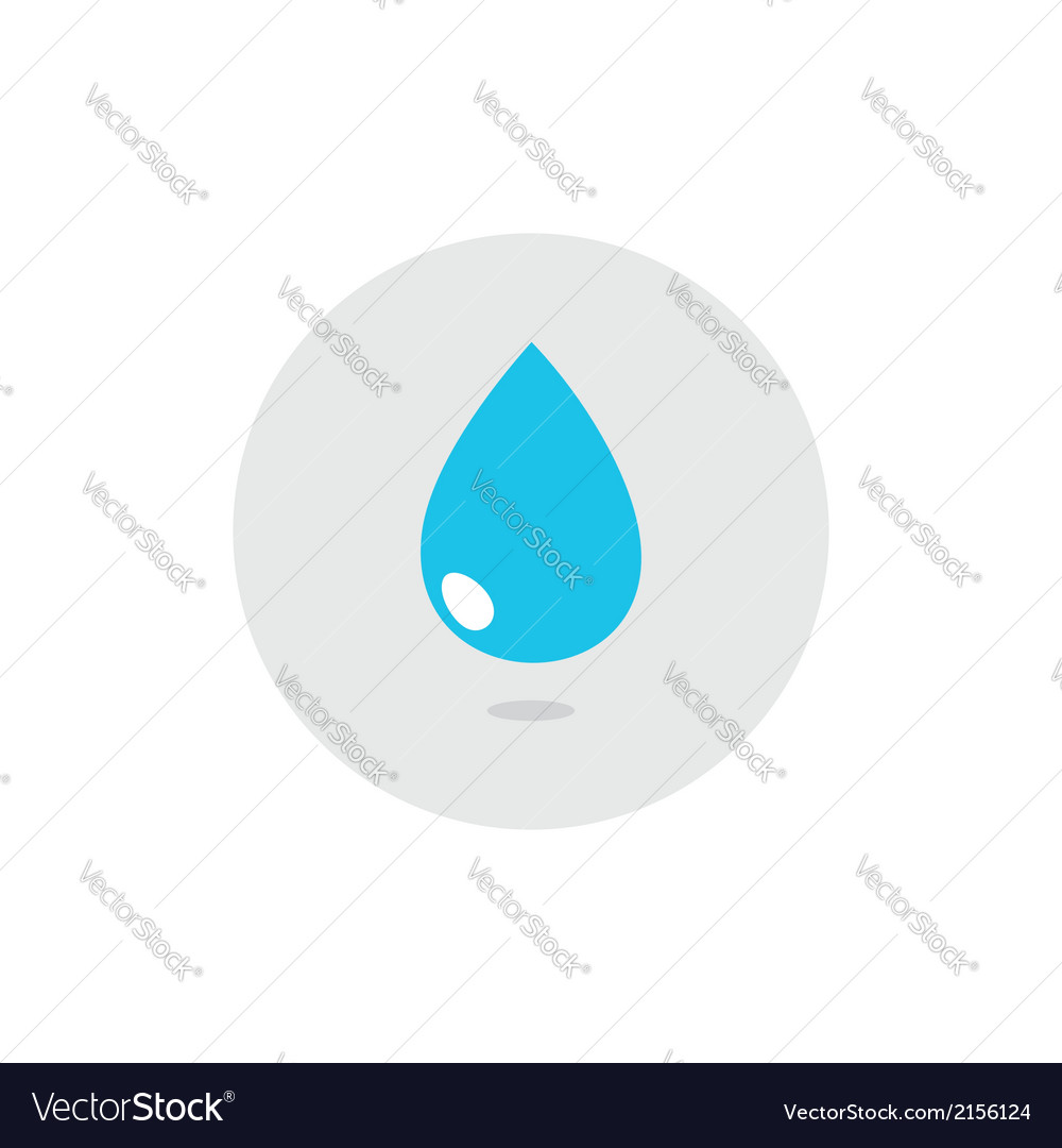 Water drops icon set vector | Price: 1 Credit (USD $1)