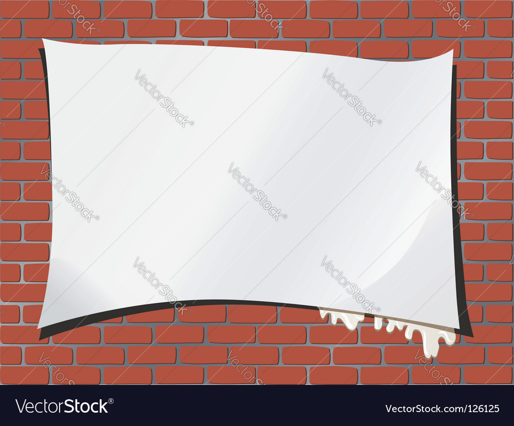 Brickwall advertisement vector | Price: 1 Credit (USD $1)