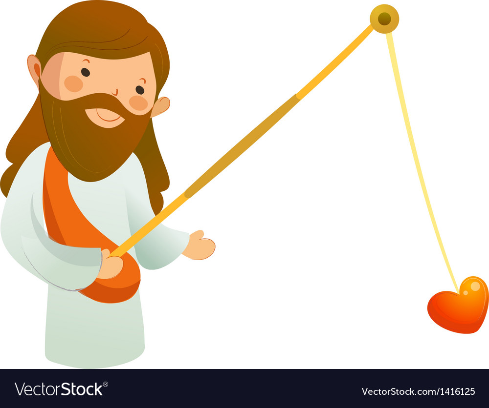 Close-up of jesus christ holding heart shape vector   Price: 1 Credit (USD $1)