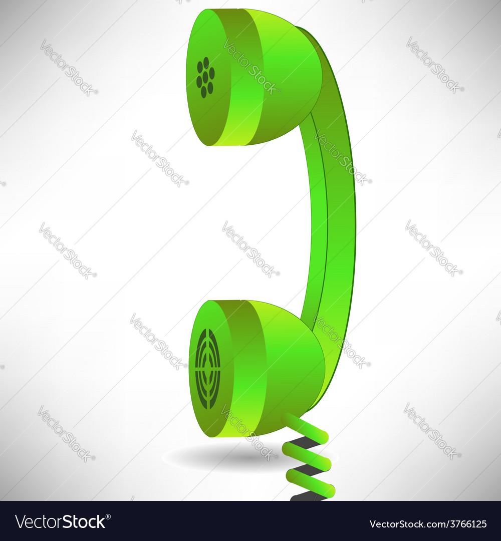 Green handset vector   Price: 1 Credit (USD $1)